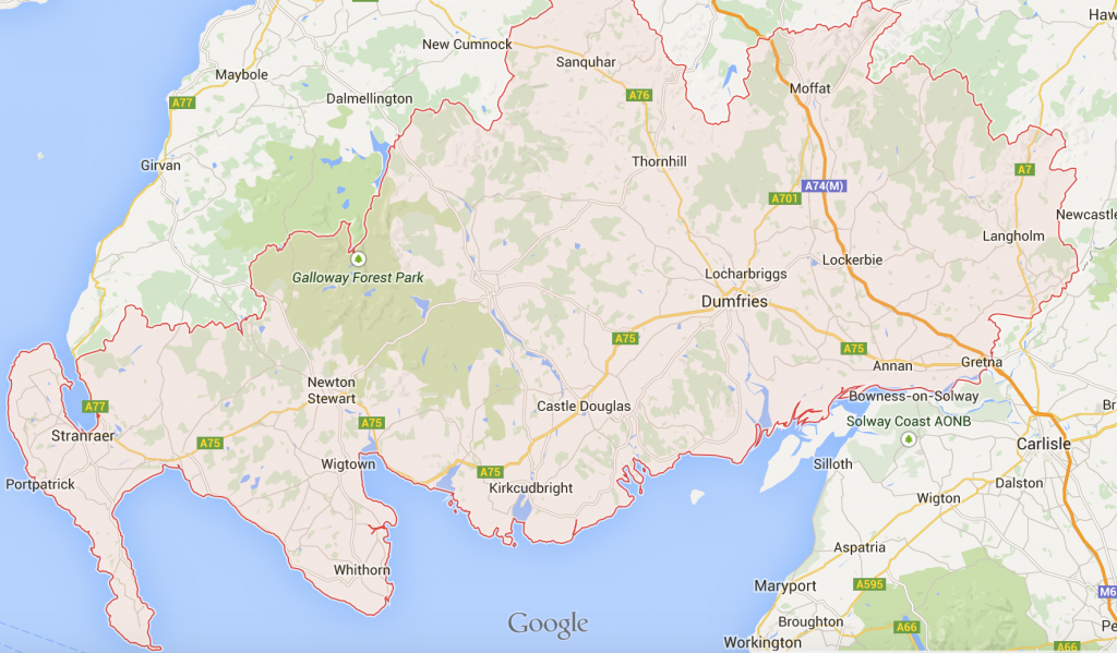 Locksmith in Dumfries and Galloway coverage map